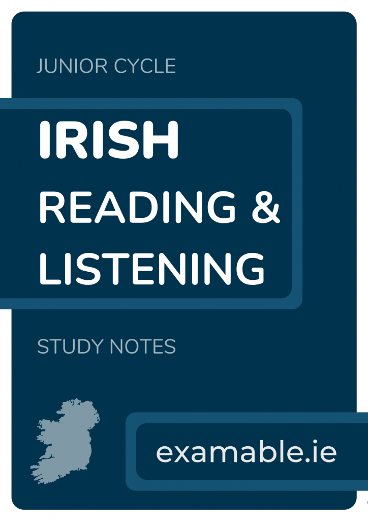 Junior Cycle Irish Notes Cover